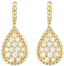 Boucheron Serpent Boheme 18k Diamond Teardrop Earrings