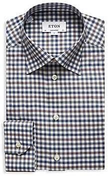 Eton Men's Contemporary-Fit Check Dress Shirt