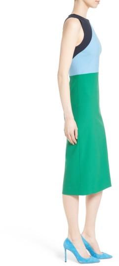 Women's Diane Von Furstenberg Stretch Wool Midi Sheath Dress 2