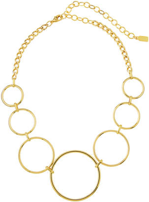 A.V. Max Geometric Circle-Link Necklace