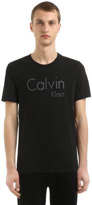 Calvin Klein Underwear Logo Printed Cotton Jersey T-Shirt