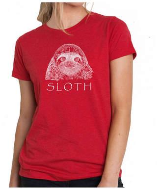 Women Premium Word Art T-Shirt - Sloth