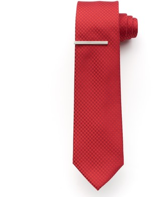 Apt. 9 Men's McVinney Check Tie With Tie Bar