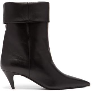 Saint Laurent Charlotte 55 Leather Ankle Boots - Womens - Black