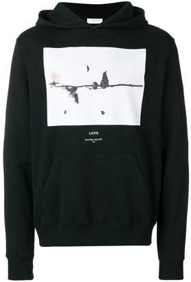 Ih Nom Uh Nit 'Rose' print hoodie