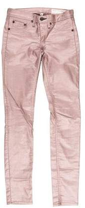 Rag & Bone Metallic Low-Rise Jeans