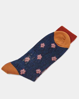 Ted Baker PAWLETT Parrot scene wool socks