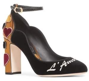 Dolce & Gabbana L'Amore Ankle Strap Pump