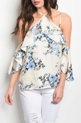 Honey Punch Cream Floral Top
