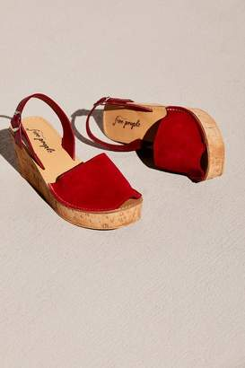 Free People Fp Collection Britney Cork Wedge