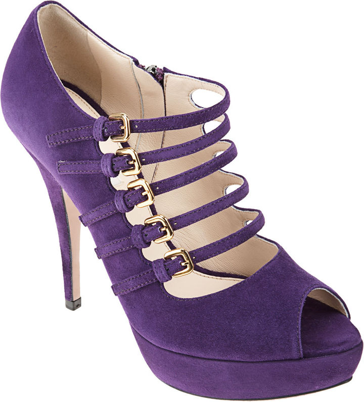 PRADA Buckle Mary Jane - Purple
