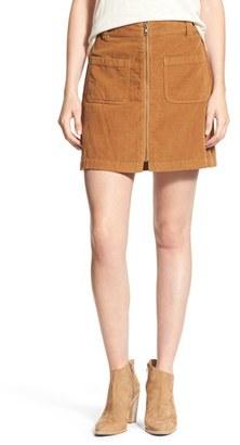 Madewell Zip Front Corduroy Miniskirt $78 thestylecure.com