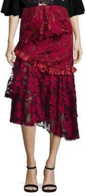 Romance Was Born Queen of the Night Magnolia Lace Skirt