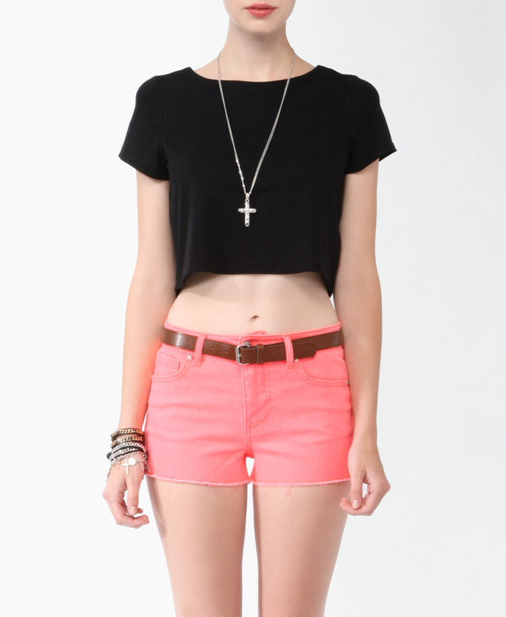 Forever 21 Twist Cropped Tee