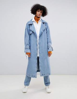 Weekday Limited Collection Denim Oversized Trench Coat