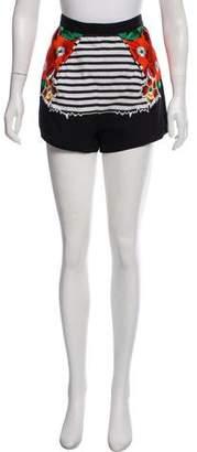 Alice McCall Embroidered Mini Shorts