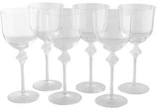 Lalique 6-Piece Roxane Tall Water Goblets