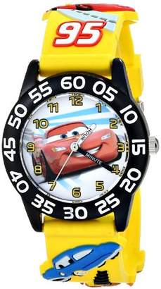 Disney Kids' W001505 Time Teacher Cars Watch With 3-D Plastic Band
