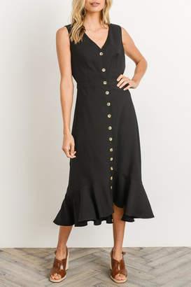 Gilli Black Button-Down Midi-Dress