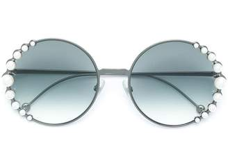 Fendi Eyewear Ribbons and Pearls sunglasses