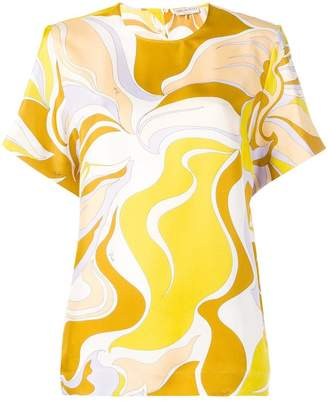 Emilio Pucci abstract print top