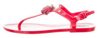 Tod's Jelly Tassel Sandals