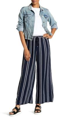 Max Studio Embroidered Stripe Wide Leg Pants
