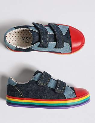 Marks and Spencer Kids' Rainbow Fashion Trainers (5 Small - 12 Small)