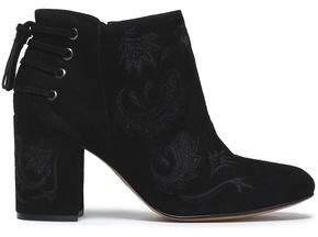 Rachel Zoe Lace-Up Suede Ankle Boots