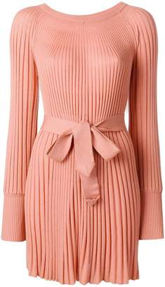 Twin-Set pleated knit dress