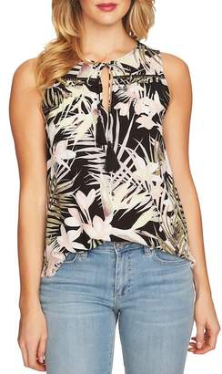 Cynthia Steffe CeCe by Soft Palms Tie Front Sleeveless Blouse