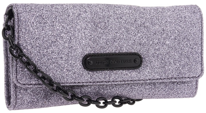 Juicy Couture Simply Stardust Convertible Wallet (Grey) - Bags and Luggage