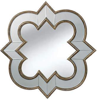 One Kings Lane Quatrefoil Mirror - Silver/Clear