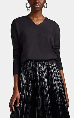Rick Owens Women's Cashmere V-neck Hooded Sweater - Dark Gray