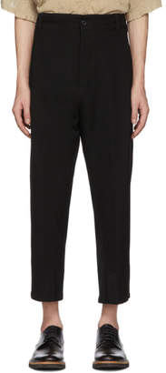 Ann Demeulemeester Black Wool Fleece Trousers