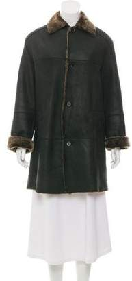 Andrew Marc Shearling Point Collar Coat
