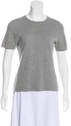 Akris Cashmere Short Sleeve Top