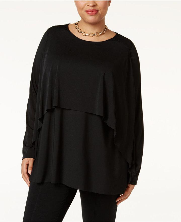 AlfaniAlfani Plus Size Layered Top, Only at Macy's