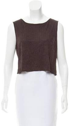 Max Studio Sleeveless Crop Top