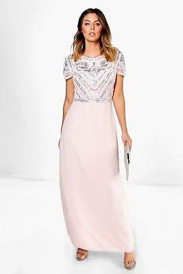boohoo NEW Womens Boutique Embellished Top Maxi Dress in Polyester