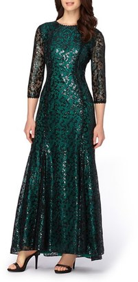 Tahari Sequin Lace Mermaid Gown $249 thestylecure.com