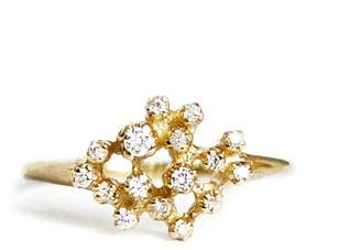 N+A New York Diamond Cluster Ring - Yellow Gold