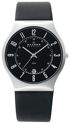 Skagen Men's Leather Watch
