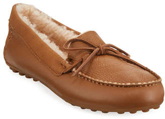 UGG Deluxe Loafer Slippers with Fur Lining