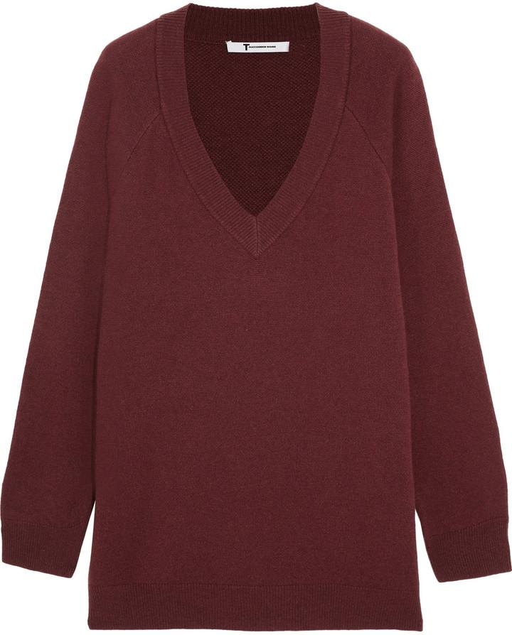 Alexander WangT by Alexander Wang Wool and cashmere-blend sweater
