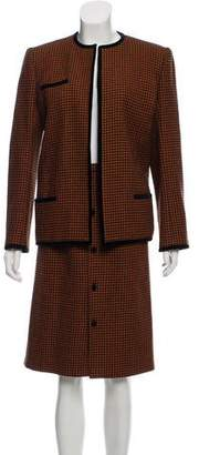 Valentino Houndsooth Skirt Suit