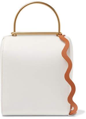 Roksanda Besa Textured-leather Shoulder Bag - White