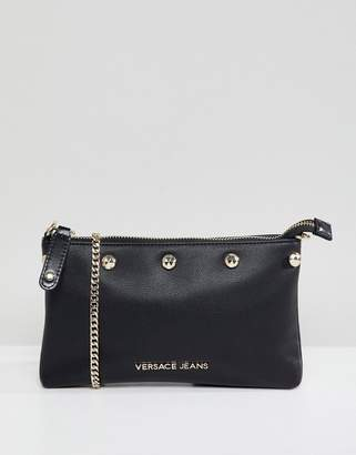 Versace studded crossbody bag with chain strap
