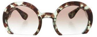 Miu MiuMiu Miu Marbled Rasoir Sunglasses