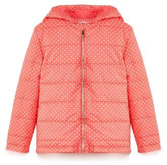 Yumi Girl - Girls' Red Polka Dot Printed Quilted Jacket